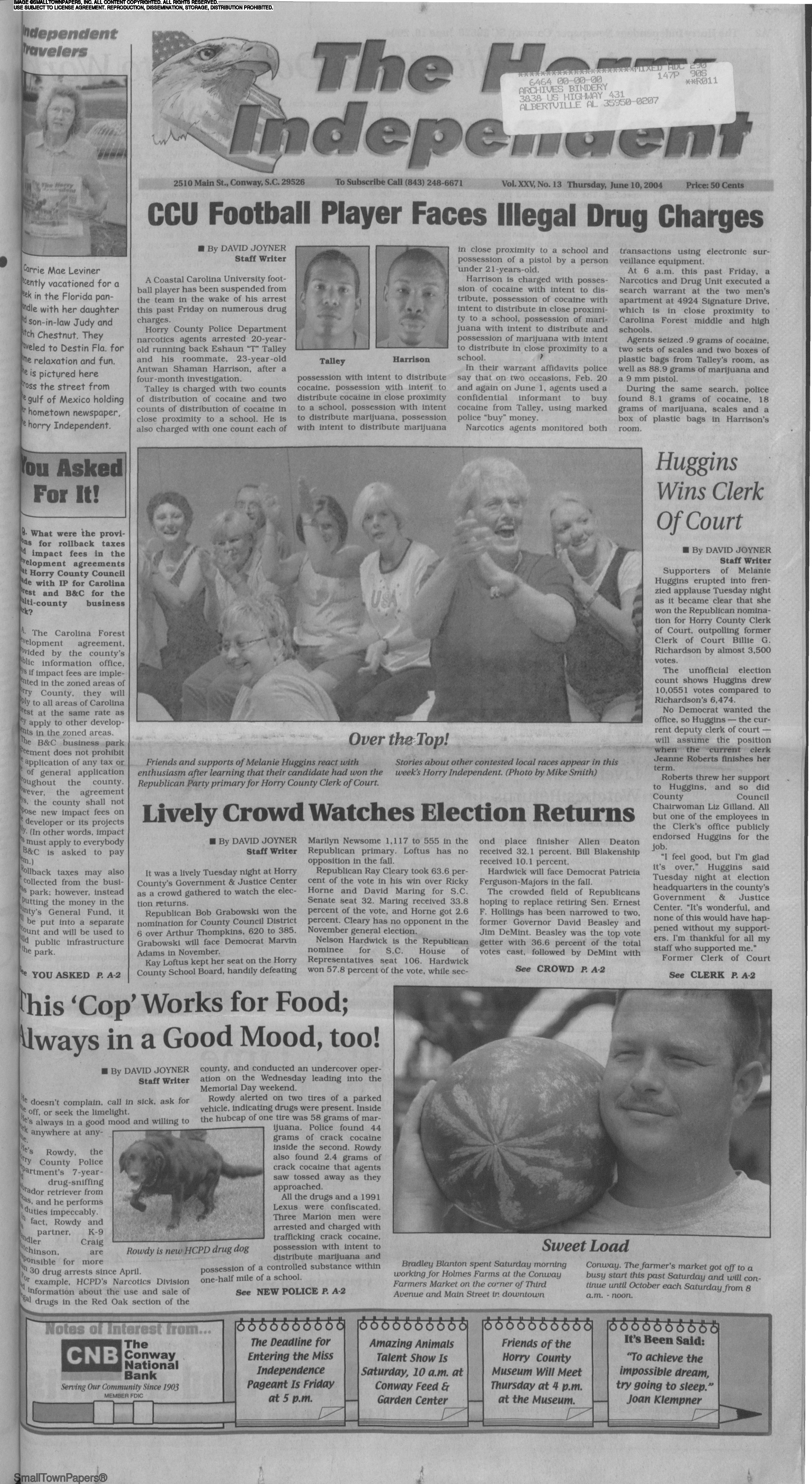 The Horry Independent June 10, 2004: Page 1